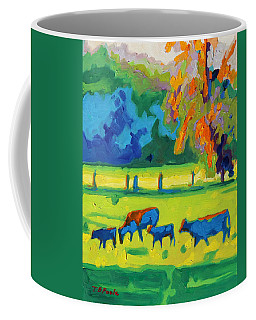 Texas Cows At Sunset Oil Painting Bertram Poole Apr14 Coffee Mug