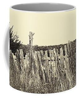 Texas Fence In Sepia Coffee Mug
