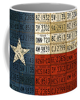 Texas Flag The Lone Star State License Plate Art Coffee Mug
