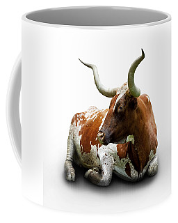 Texas Longhorn Bull Coffee Mug by Charles Beeler