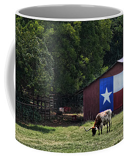 Texas Longhorn Grazing Coffee Mug