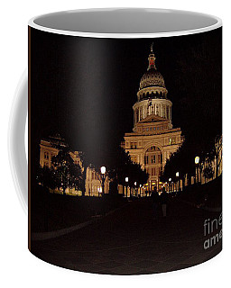 Coffee Mug featuring the photograph Texas State Capital by John Telfer