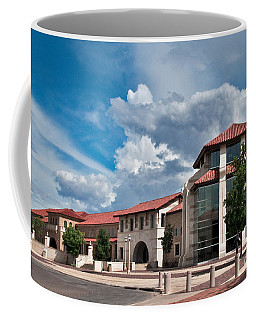Coffee Mug featuring the photograph Texas Tech Student Union by Mae Wertz