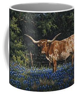 Coffee Mug featuring the painting Texas Traditions by Kyle Wood