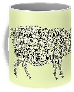 Text Pig Coffee Mug