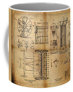 Coffee Mug featuring the painting Textile Machine by James Christopher Hill