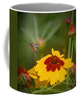 Coffee Mug featuring the photograph Textured Bee by Leticia Latocki
