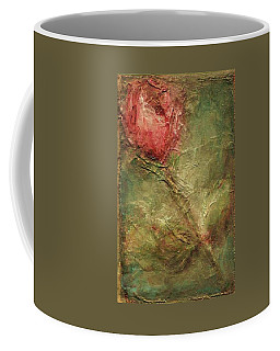 Coffee Mug featuring the painting Textured Rose Art by Mary Wolf