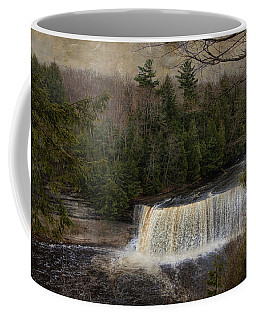 Textured Tahquamenon River Michigan Coffee Mug