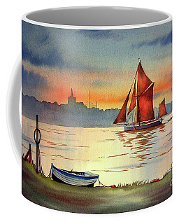 Thames Barge At Maldon Essex Coffee Mug
