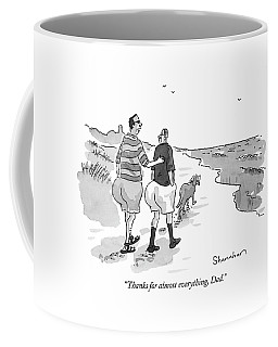 Thanks For Almost Everything Coffee Mug by Danny Shanahan