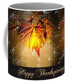 Coffee Mug featuring the photograph Thanksgiving Card by Carolyn Marshall