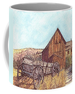 Coffee Mug featuring the drawing That Which Once Was by Carol Wisniewski