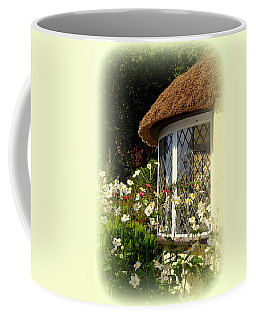 Thatched Cottage Window Coffee Mug by Carla Parris