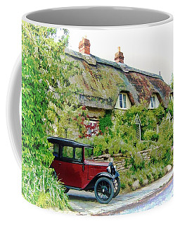 Thatched Cottages At Reybridge Coffee Mug
