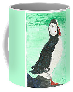 That's Another Puffin Year Over Coffee Mug by Tracey Williams
