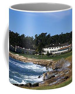 The 18th At Pebble Beach Coffee Mug by Barbara Snyder