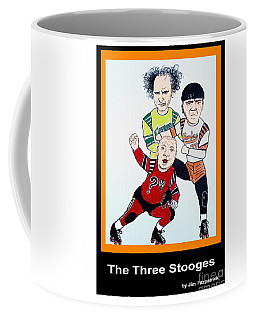 The 3 Stooges Playing Roller Derby Coffee Mug