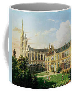 The Abbey Church Of Saint-denis And The School Of The Legion Of Honour In 1840 Oil On Canvas Coffee Mug