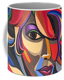 Abstract Woman Art, Abstract Face Art Acrylic Painting Coffee Mug