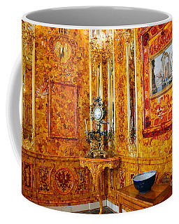 The Amber Room At Catherine Palace Coffee Mug by Catherine Sherman