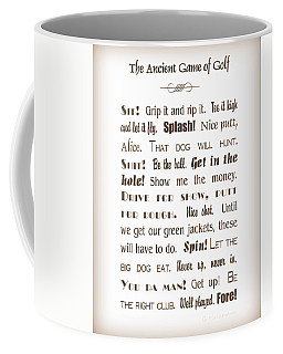 The Ancient Game Of Golf - Sepia Coffee Mug