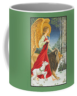 The Angel The Lion And The Lamb Coffee Mug