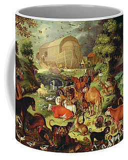 The Animals Entering The Ark Coffee Mug