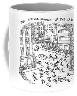 The Annual Running Of The Cabs Coffee Mug