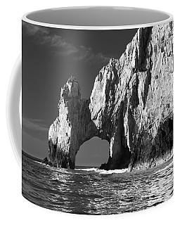 The Arch Cabo San Lucas In Black And White Coffee Mug