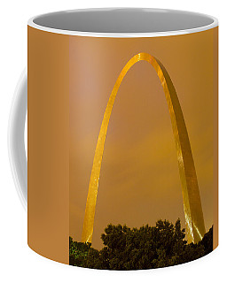 The Arch In The Glow Of St Louis City Lights At Night Coffee Mug