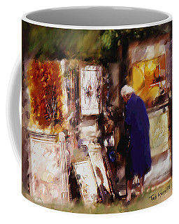 Coffee Mug featuring the painting The Art Show by Ted Azriel