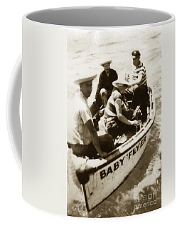 The Baby Flyer With Ed Ricketts And John Steinbeck  In Sea Of Cortez  1940 Coffee Mug