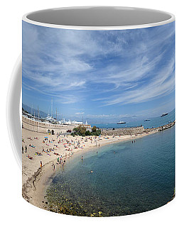 The Beach At Cap D' Antibes Coffee Mug