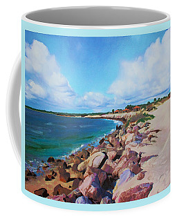 Coffee Mug featuring the painting The Beach At Ponce Inlet by Deborah Boyd