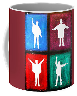 The Beatles Help Pop Art Coffee Mug