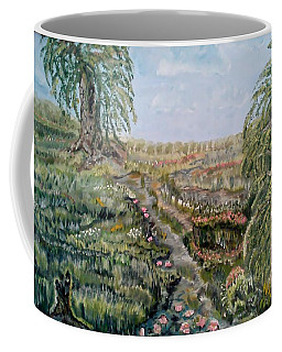 Coffee Mug featuring the painting The Beauty Of A Marsh by Felicia Tica