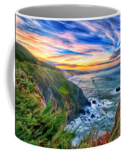 Coffee Mug featuring the painting The Beauty Of Big Sur by Michael Pickett
