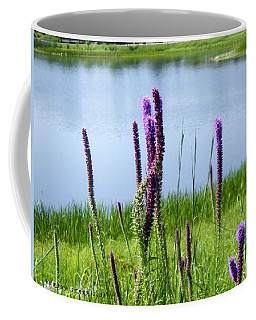Coffee Mug featuring the photograph The Beauty Of The Liatris by Verana Stark