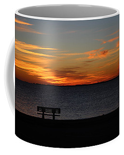 Coffee Mug featuring the photograph The Bench by Faith Williams