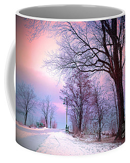 The Benches In Winter Coffee Mug