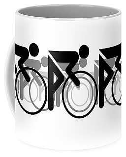 The Bicycle Race 2 White Coffee Mug