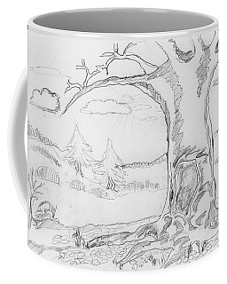 Coffee Mug featuring the painting The Big Oak  by Felicia Tica