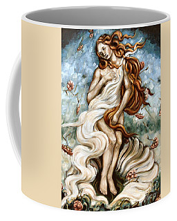 The Birth Of Compassion Coffee Mug by Carrie Joy Byrnes