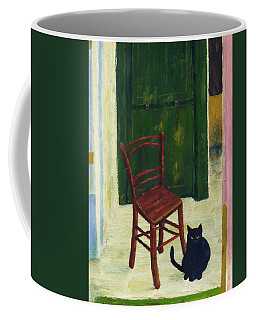 The  Black Cat Coffee Mug by Hartmut Jager