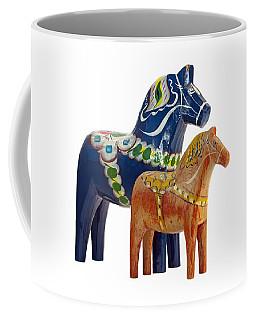 The Blue And Red Dala Horse Coffee Mug