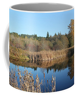 Coffee Mug featuring the photograph The Blue Mirror by E Faithe Lester