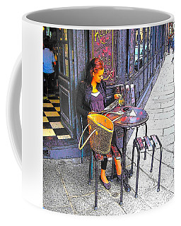 The Brasserie In Paris Coffee Mug by Jan Matson