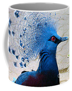 Coffee Mug featuring the photograph The Bright Blue Bird by Nina Silver