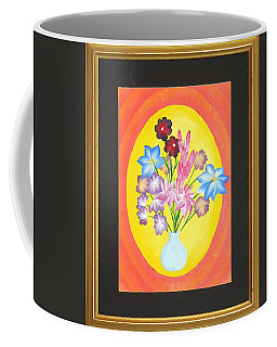 Coffee Mug featuring the painting The Bud Vase by Ron Davidson